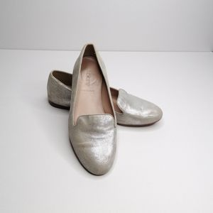 J. Crew shimmery cleo metallic loafers